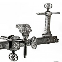Engraved Iron Lathe, France, 18th century