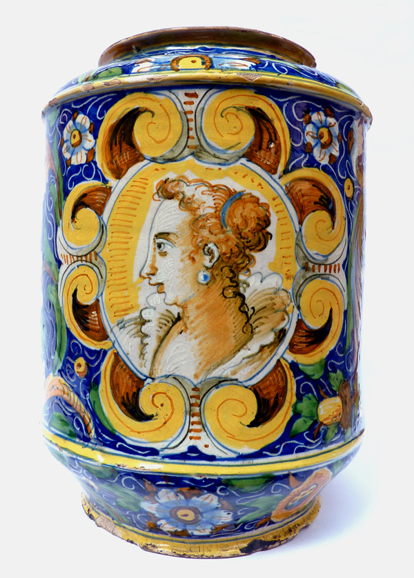 Mastro Domenico Polychromed Albarello - 16th century