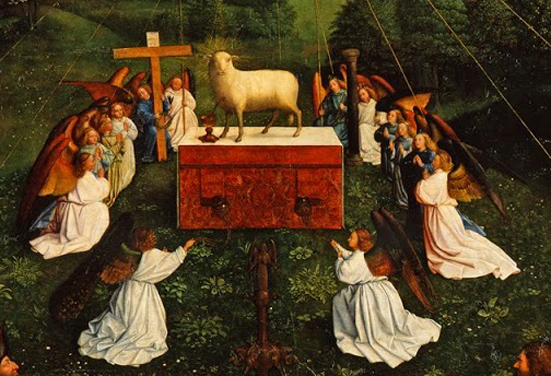 van eyck, polittico dell'agnello - Copia