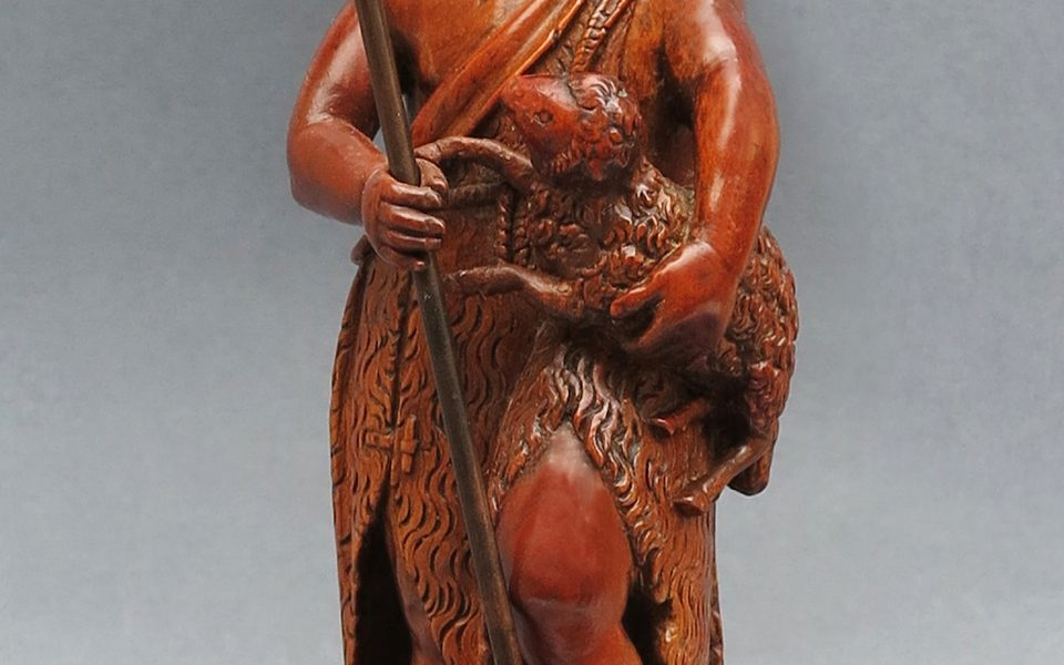 A Delicate Saint John the Baptist in Boxwood