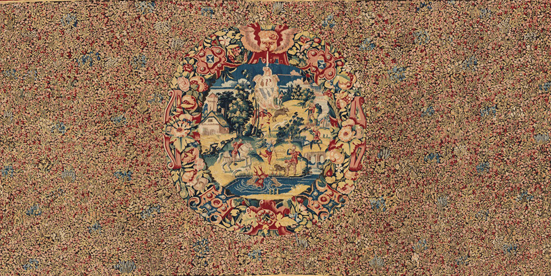 Tapestry-Metropolitan-Coat-of-arms-millefleurs