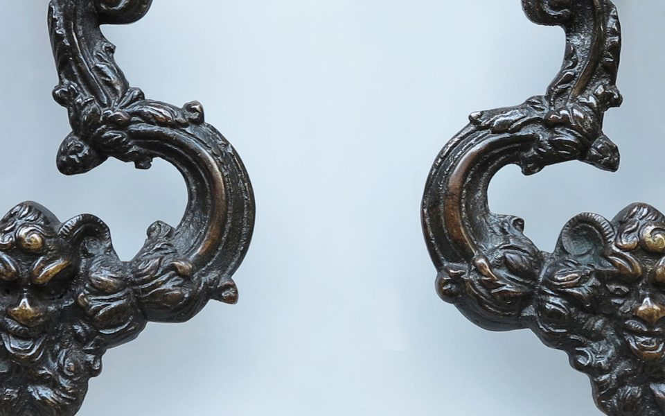 A nice pair of Emilian Bronze Doorknockers