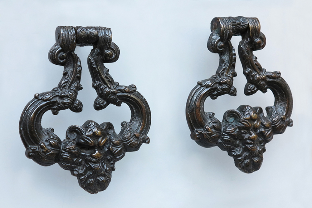 Bronze-doorknockers-pair