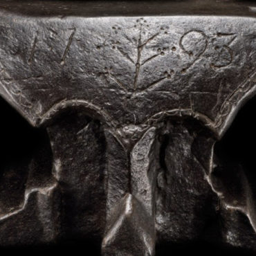 Carved and Engraved Iron Anvil, France, dated 1793