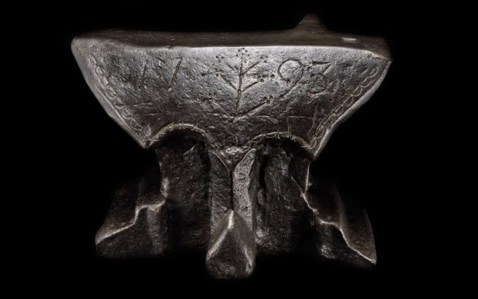 A Massive French Anvil dated 1793
