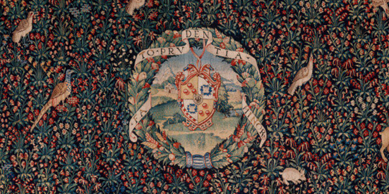 Tapestry-Giovio-Coat-of-arms-millefleurs