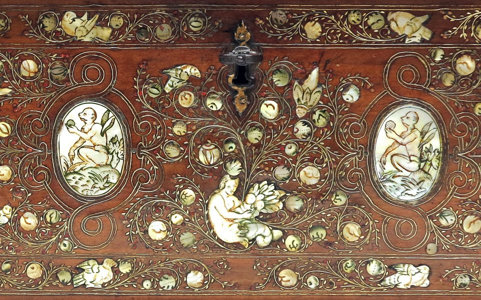 An Exquisite French Inlaid Casket