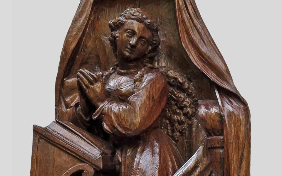 A Graceful Virgin of the Annunciation