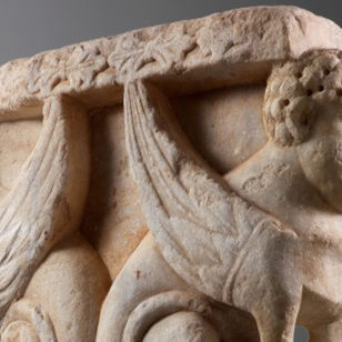 A-Rare-Capital-with-Sphinxes
